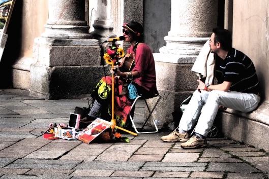 Musicista di strada a Vigevano © Jordan Lessona